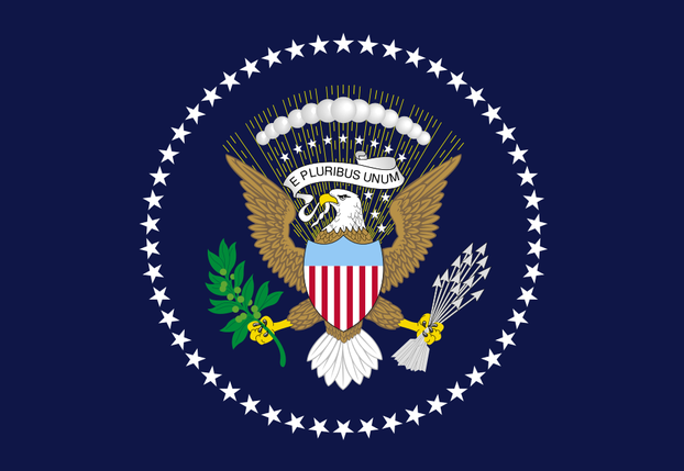 U.S. Presidential flag, 1960-present: defined in Executive Order 10860