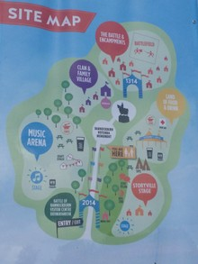 The map at Bannockburn Live