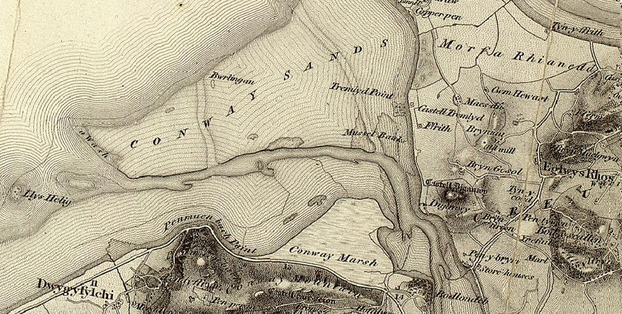Image: Map of Conwy and Llandudno (1805)