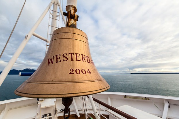 A Ships Bell on the Bow of a Boat