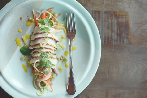 Charred Humboldt squid with Vietnamese slaw.