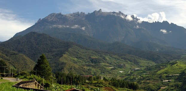 view from Kundasang, closest town to Mount Kinabalu, northern Borneo, Malaysia