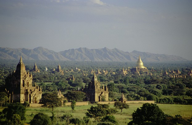 View over the plain of Bagan