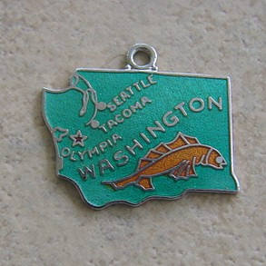 Wells Sterling Washington Charm