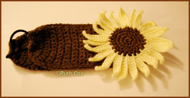Crochet Sunflower Headband Ear Warmer