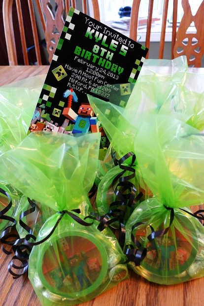 Minecraft Favor Bags
