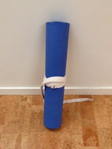 Roll your mat to safely store it