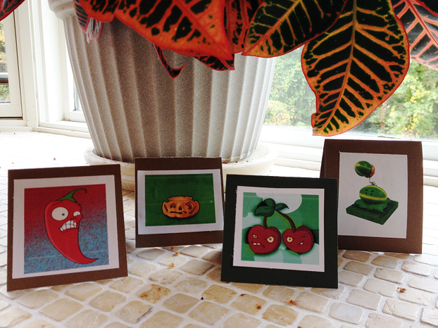 Jalapeno - Pumpkin - Cherry Bomb - Melon-pult Candy Buffet Cards