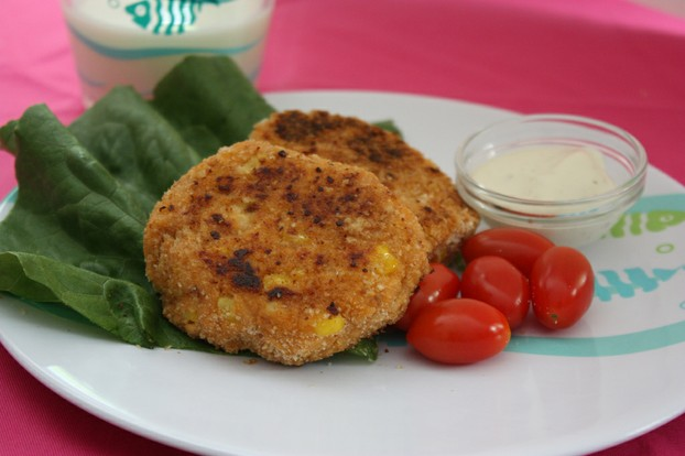 Salmon and Corn Cakes with Lemon Mayonnaise