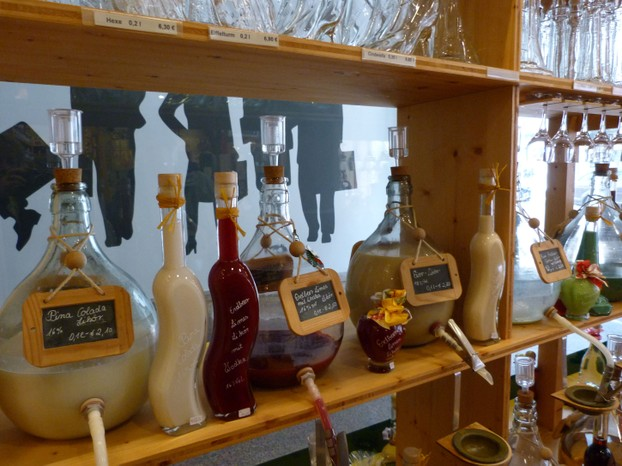 Interior of Shop with Liqueurs