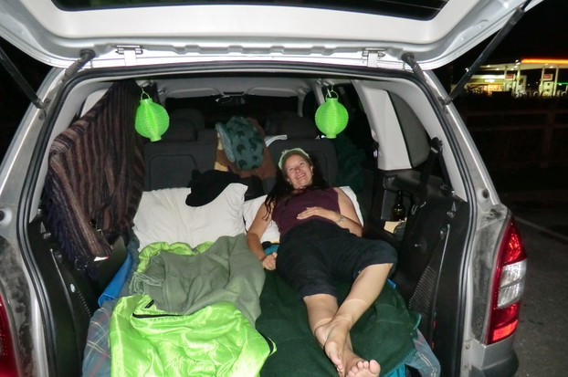 Image: Sleeping in the car in Cumbria