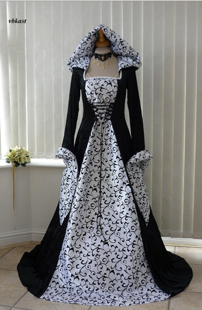 Medieval handfasting gowns for a pagan bride for Celtic wedding dresses for sale