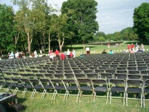 Assembly area for In Memory Event | Within view of Vietnam Veterans Memorial Wall