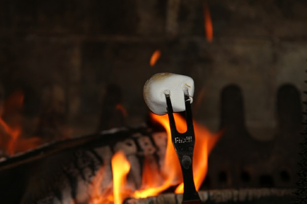 Roasting Marshmallow Over a Fire