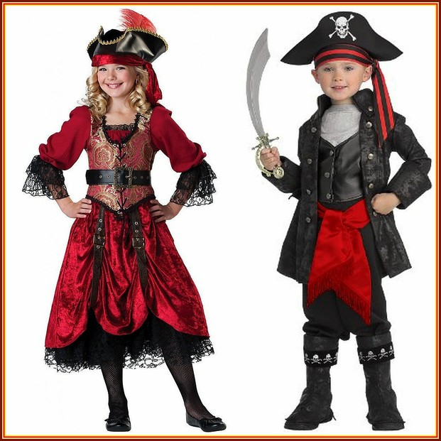 Kids Pirates Costume  sc 1 st  Wizzley & Kids High Seas Buccaneer and Pirate Costumes for Halloween