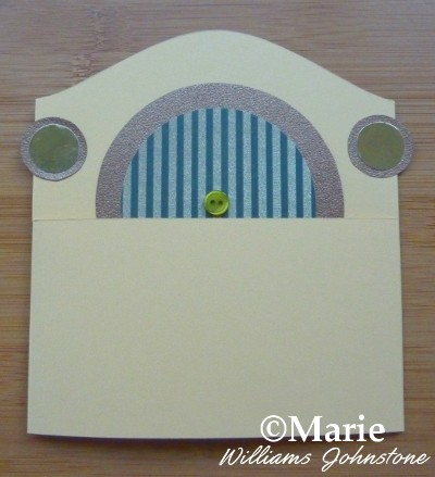 Adding the Hobbit home look with door and windows to a folded card