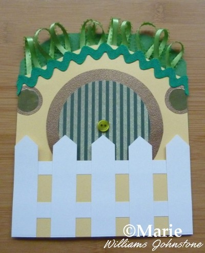 Almost finished Hobbit home handmade card