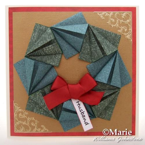 Origami Christmas Wreath by Becks | Christmas origami, Origami ... | 500x500