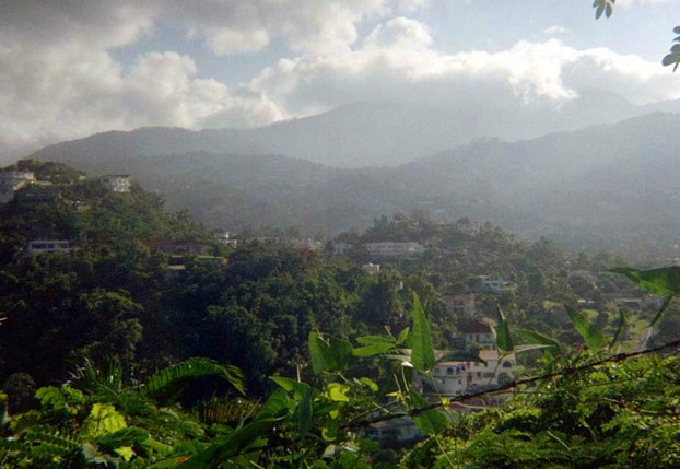 """Start of the Blue Mountains just north of Kingston, Jamaica"""