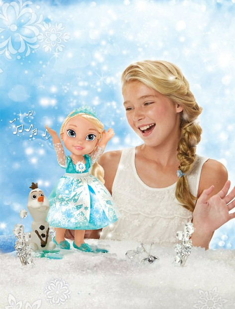 Singing and Speaking Adorable Elsa Toddler Doll and Olaf the Snowman Friend