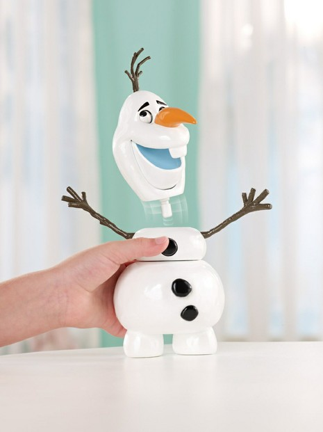 Pull apart and silly faces Olaf the Frozen snowman plastic doll