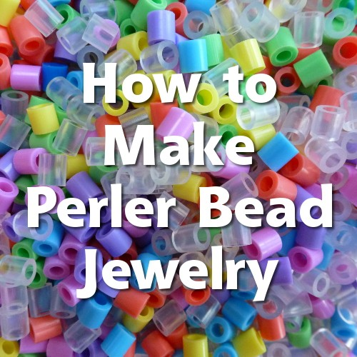 How to make perler and hama bead jewelry from completed projects