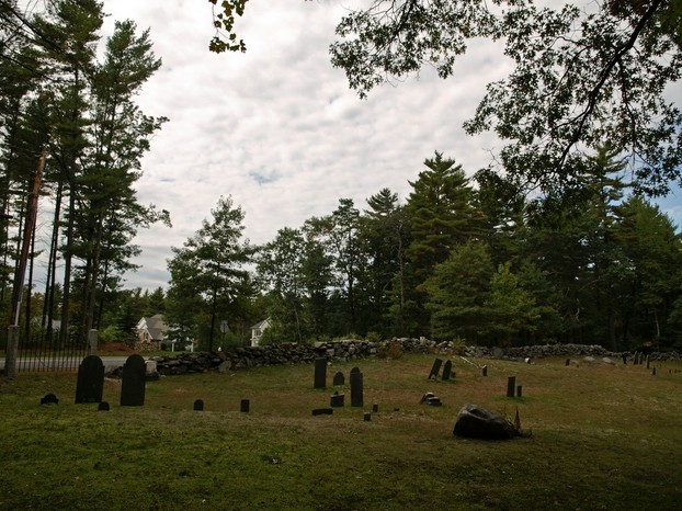 This early American cemetery is now surrounded by new homes