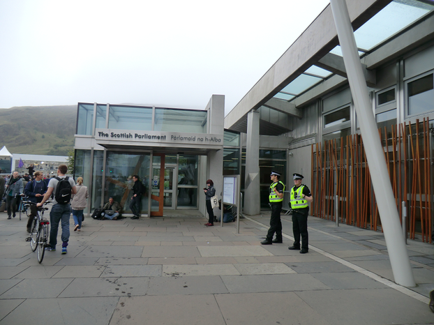 Image: Scottish Parliament Building on September 18th 2014
