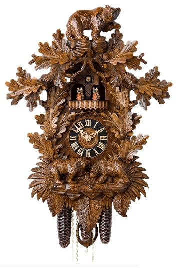 Hönes Traditional Black Forest Cuckoo Clocks with bears