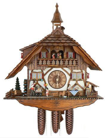 Schneider Chalet Cuckoo Clock with organ player and balloons