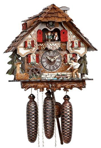 Schneider Chalet Cuckoo Clock with fisherman