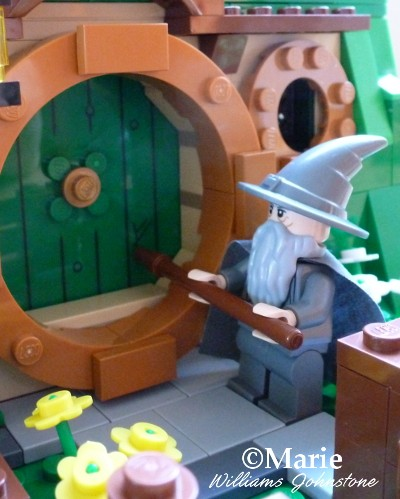 Gandalf arriving at Bilbo Baggin's Bag End Hobbit Home