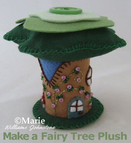 Sew a wee little Hobbit fairy home from felt, free tutorial and pattern included