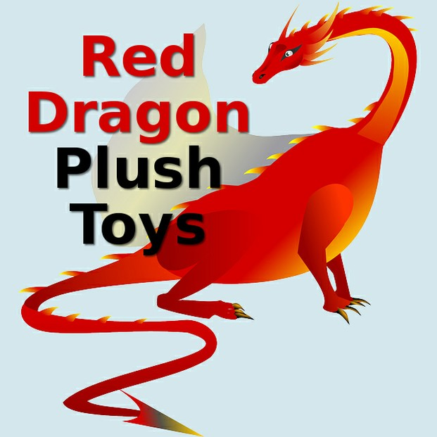 Red color stuffed plush dragon toys for kids of all ages