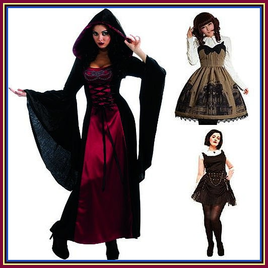 Women's Gothic Costume Designs for Halloween