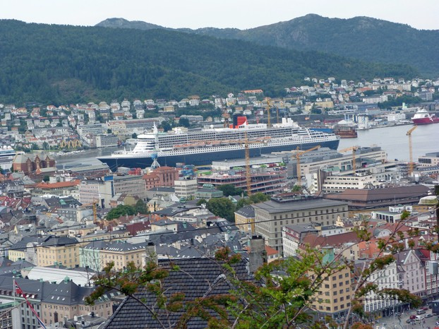 Queen Mary in Deep Harbour of Bergen