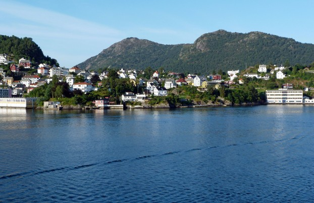 Entrance to Bergen from the Fjord