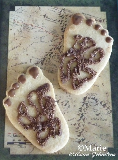 Hairy halfling hobbit feet cookies idea for a themed LOTR birthday party