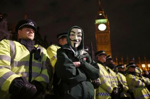 Image: Anonymous in Westminster