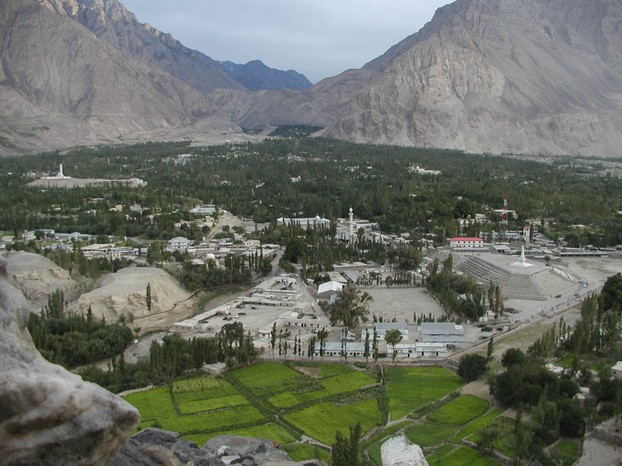 view from Skardu Fort, Gilgit–Baltistan, northernmost Pakistan ~ disputed Kashmir region
