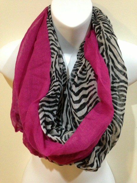 Pink Warms and Softens Black and White Animal Print