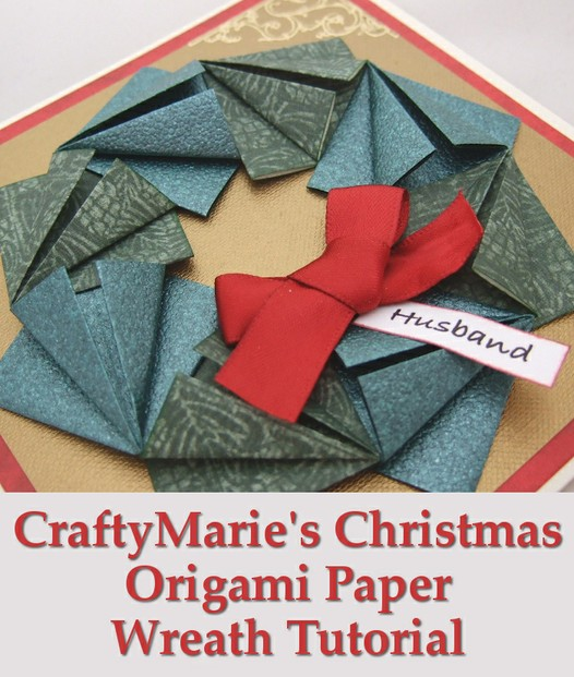 Christmas Holiday Wreath Paper Folded Origami Tutorial