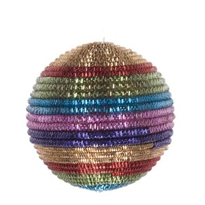 Rainbow Striped Cord Bauble