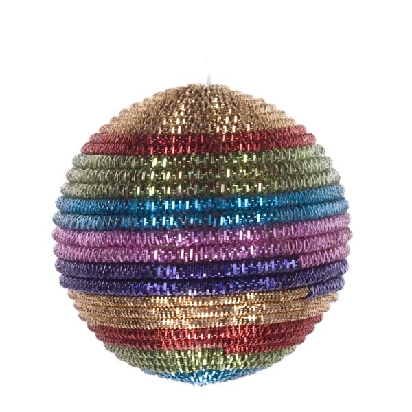 rainbow striped cord bauble christmas time uk - Gay Pride Christmas Decorations