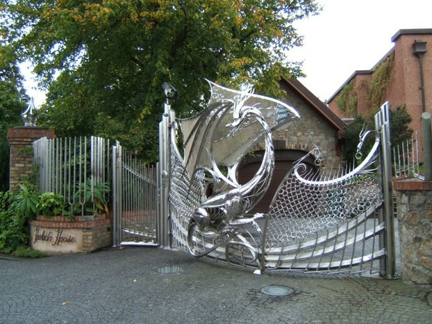 The Dragon Gates at Harlech House, Clonskeagh, Dublin, Republic of Ireland