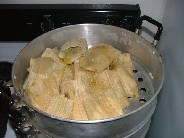Christmas tamales mexicanos