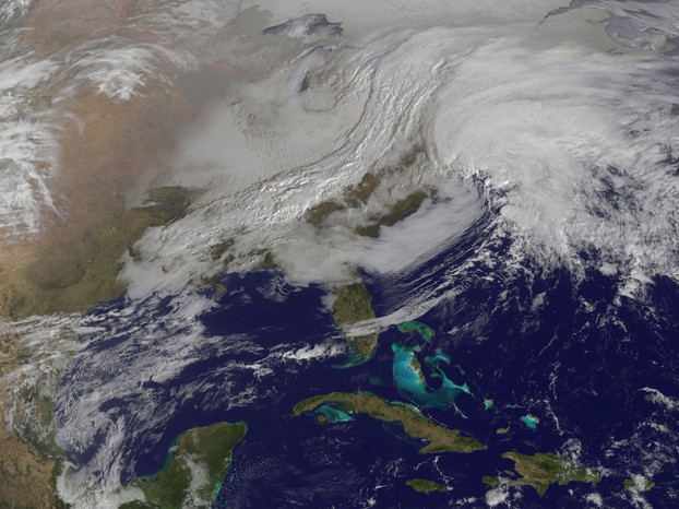 """Powerful Nor'easter Coming Together"""