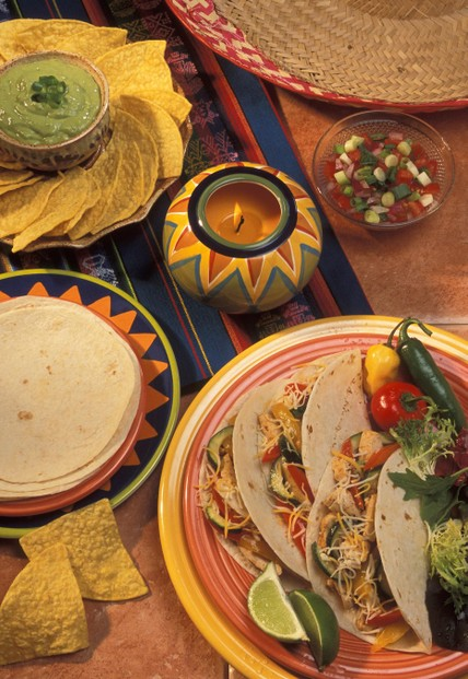 Tortillas and tacos: photo by Peggy Greb