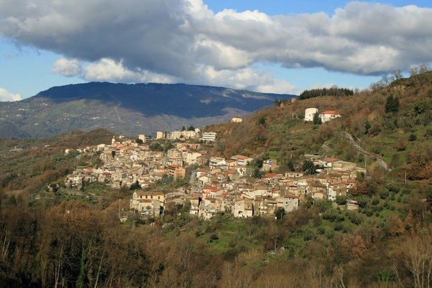 panorama of Conflenti, Catanzaro Province, south central Calabria, southern Italy