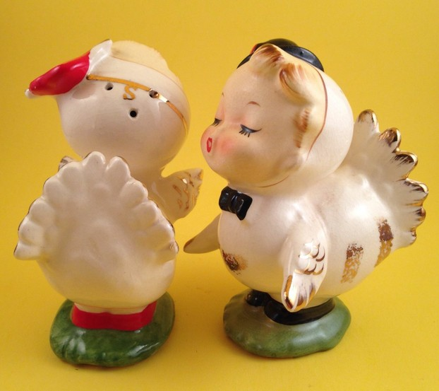 Vintage Love Bird Salt and Pepper Shakers